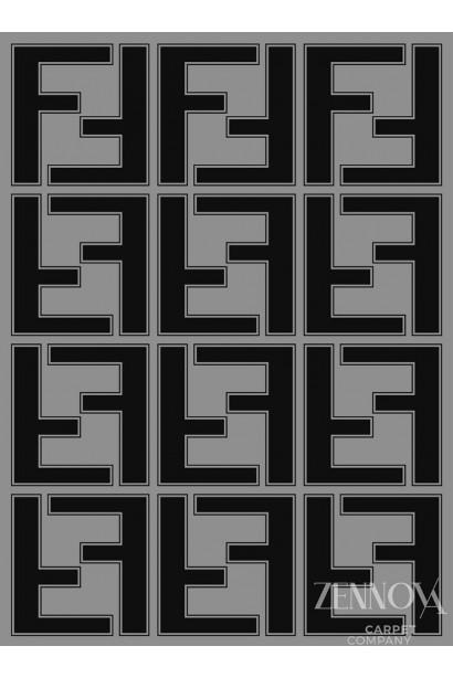 HT MA 0033 FENDI COLOR GRAY/BLACK SIZE 2.5*3.5
